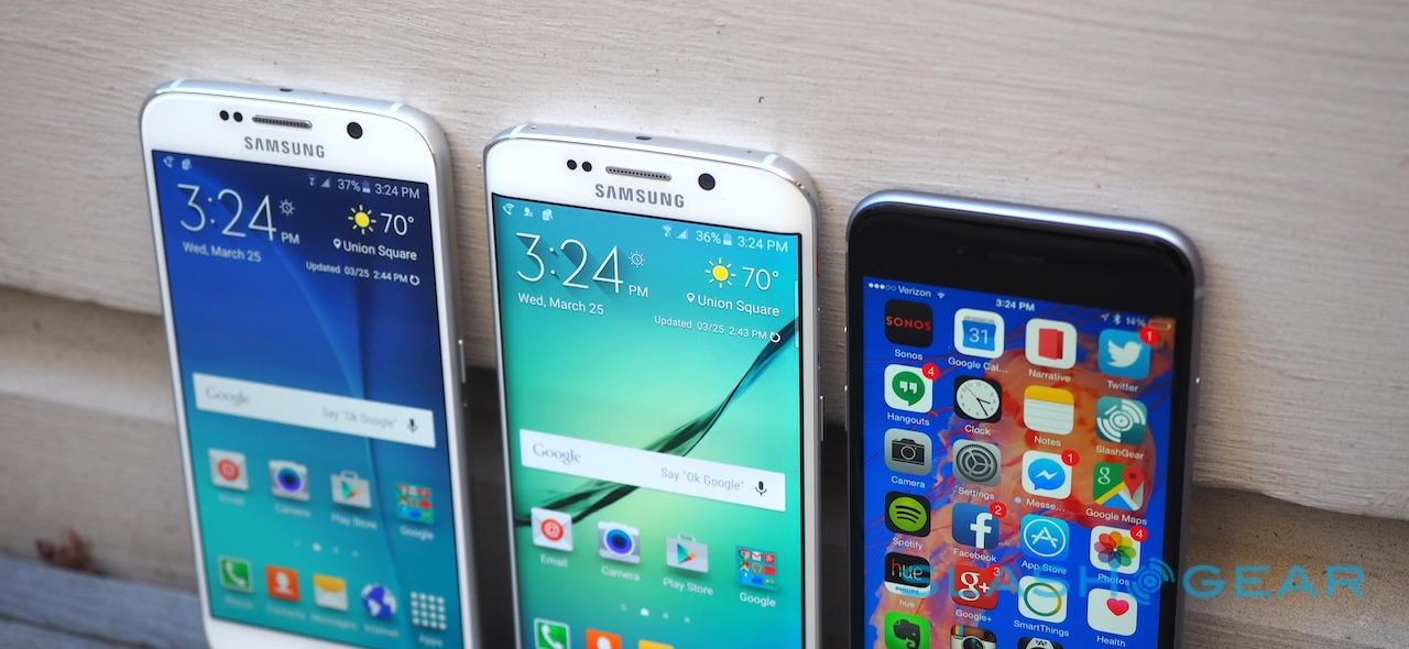 Samsung Galaxy S6 and S6 edge and iPhone 6