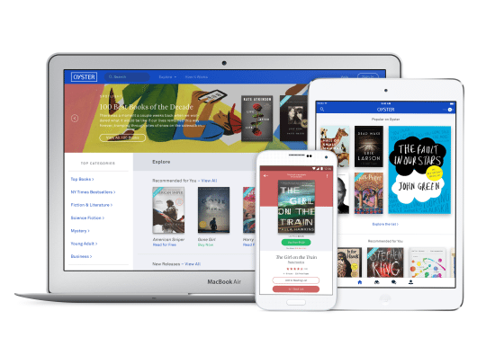 Oyster launches eBook store to take you beyond subscriptions
