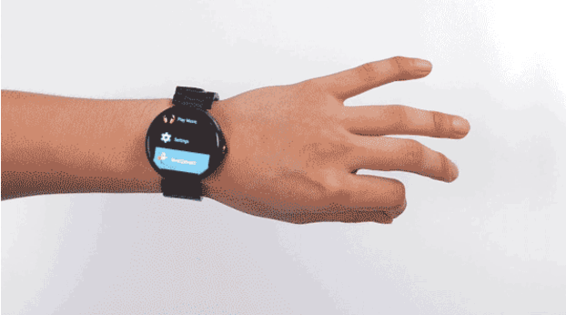 Aria remote navigates your smartwatch with getsures