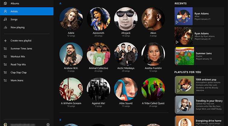 Microsoft's Windows 10 music app seems to channel Spotify - SlashGear