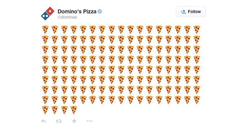 Order a Domino's pizza just by tweeting emoji