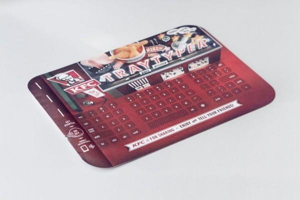 KFC had a food tray that was also a Bluetooth keyboard