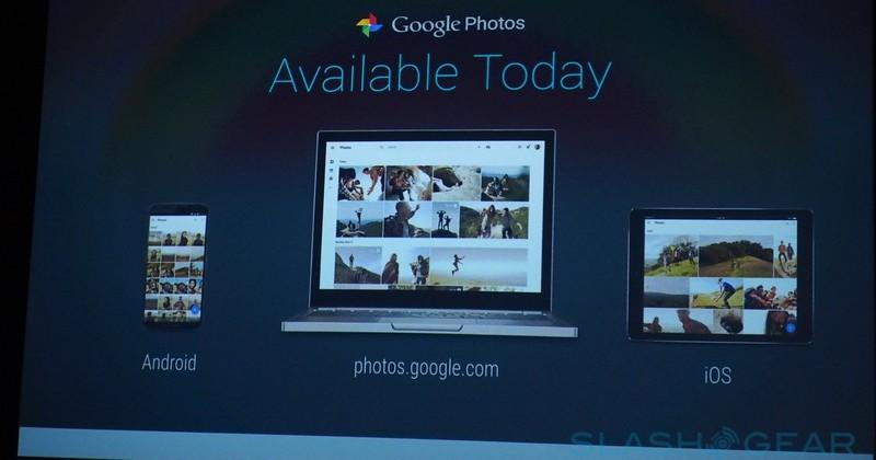 Google Photos includes free unlimited storage
