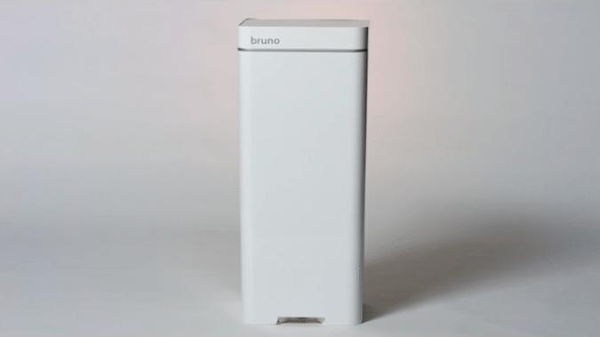 Bruno smart trash can has built-in vacuum