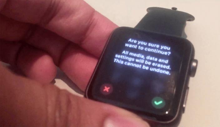 Passcode not required to reset a stolen Apple Watch