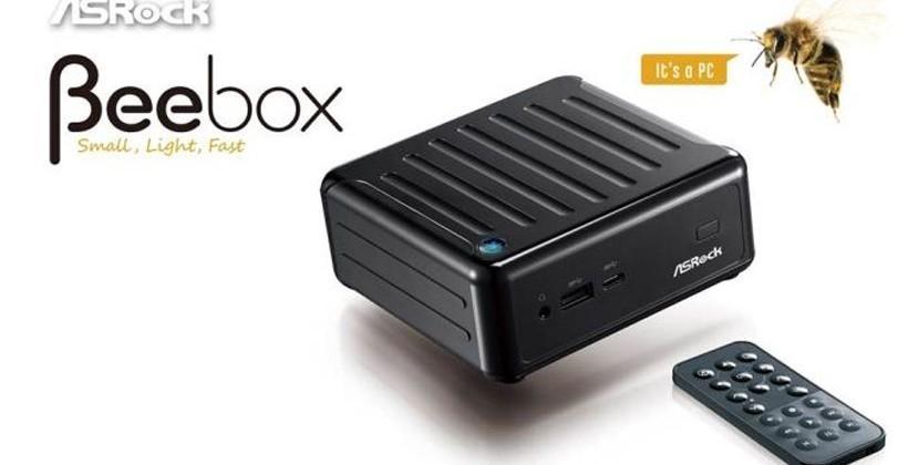 ASRock Beebox mini PC has an Intel Cherry Trail SoC