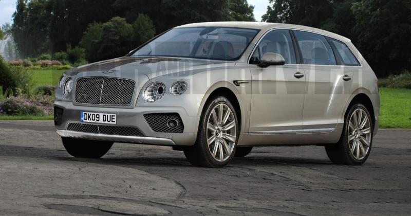 Bentley Bentayga render hints at still large but chrome-laden SUV