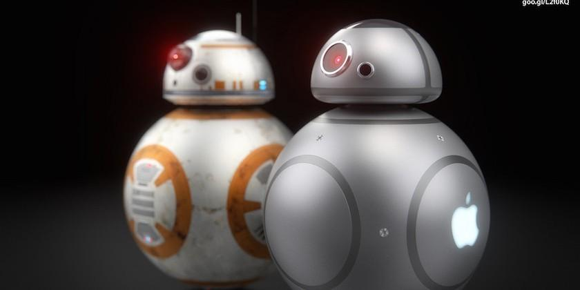 Star Wars' BB-8 droid if it were designed by Apple