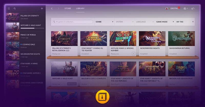 "GOG Galaxy ""Steam killer"" in beta, everything is optional"