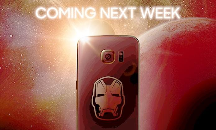 This is the Iron Man Galaxy S6 Edge