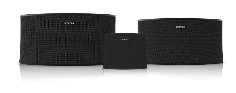 Hitachi whole home wireless speakers powered by AllPlay