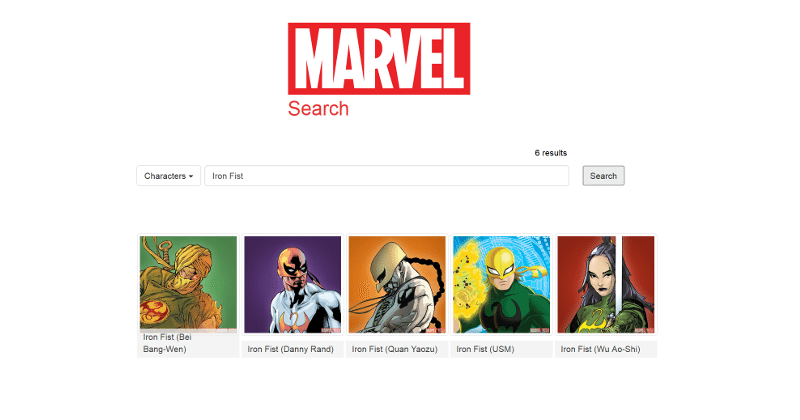 Need info on Marvel comics? There's a search tool for that