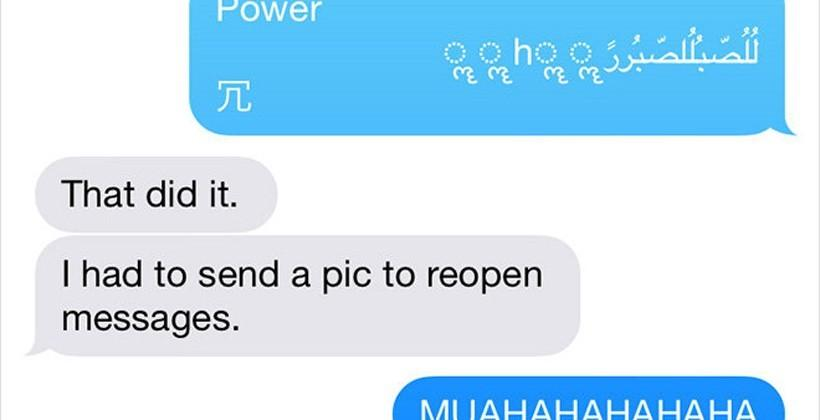 iOS Unicode bug crashes iPhone when a specific text is received