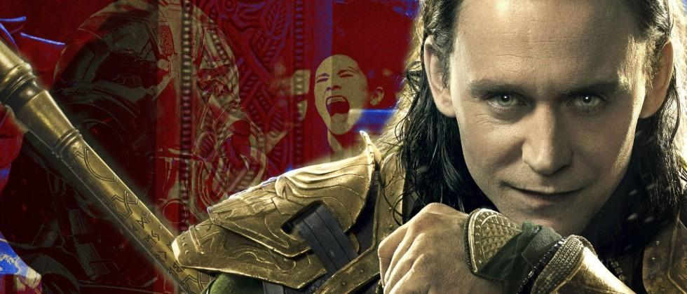 Loki in Avengers Age of Ultron: now you see him, now you don't