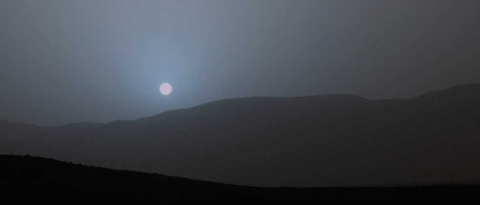 This stunning blue Mars sunset makes Monday feel easier