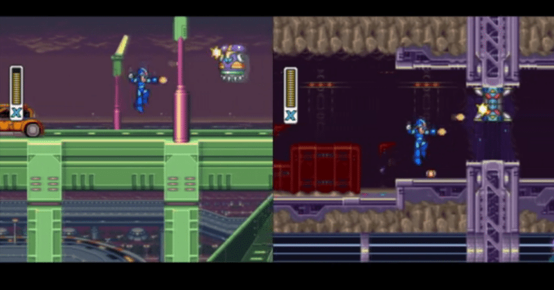 Megaman X, X2 played at the same time with same controller