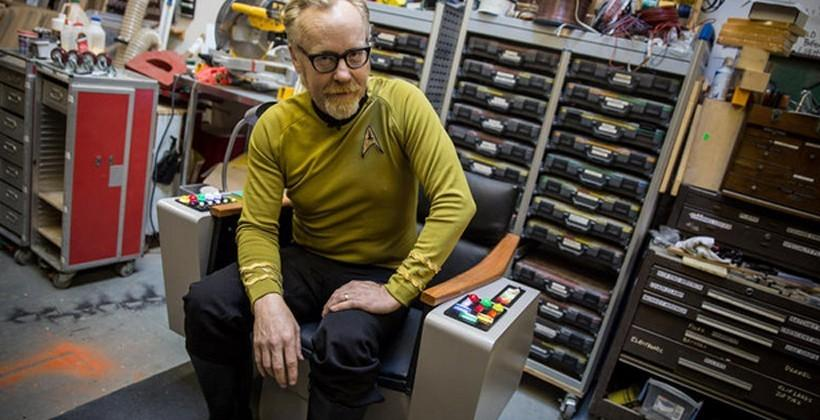 Adam Savage builds a functional Star Trek captain's chair