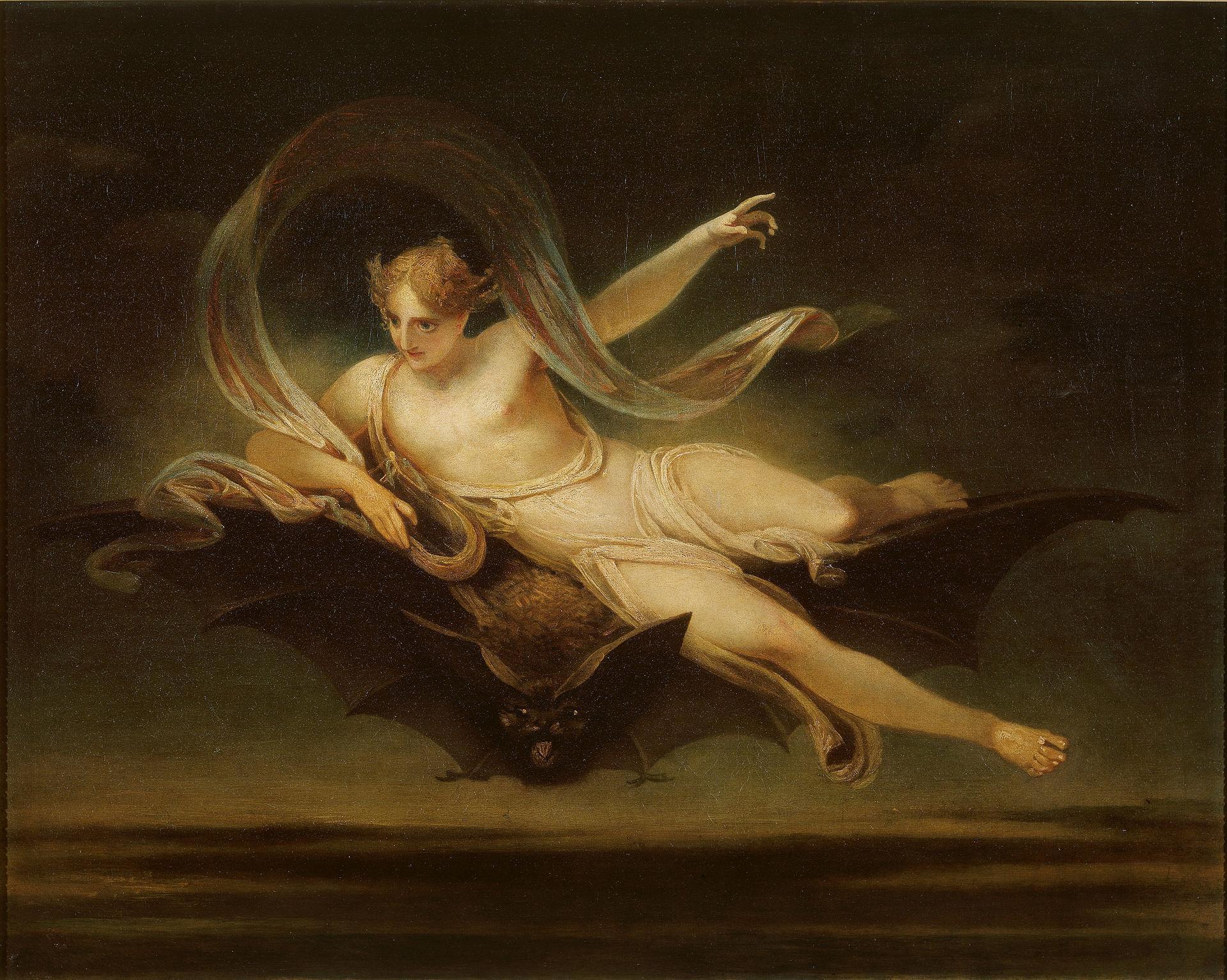 1920px-Henry_Singleton_-_Ariel_on_a_Bat's_Back_-_Google_Art_Project
