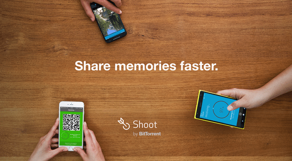BitTorrent Shoot shares media across mobile devices in a snap