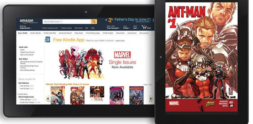 Over 12,000 Marvel comics come to Amazon's Kindle store