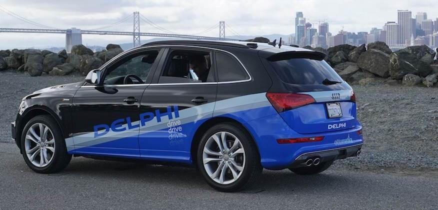 Self-driving demolition derby: Delphi says it was cut off by
