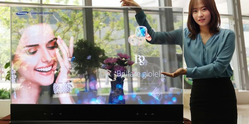 Samsung shows off new transparent, mirrored OLED displays