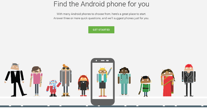 Which Android phone to get? Google has a tool for that