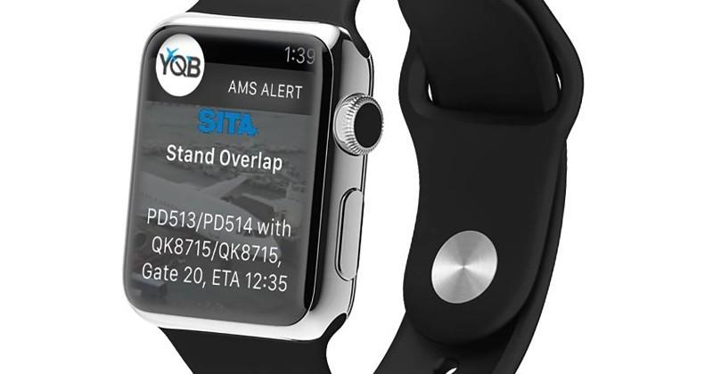 Apple Watch takes a prominent role in Quebec airport