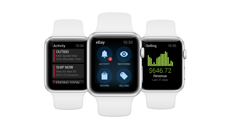 eBay comes to Apple Watch with bid notifications and more