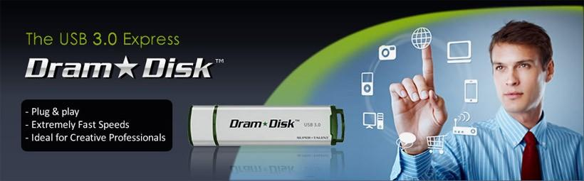 USB 3.0 Dram Disk uses free PC RAM to up data speed