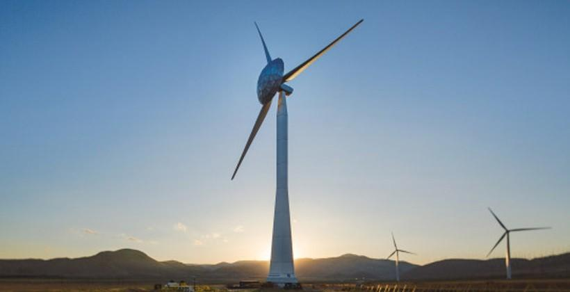 GE's ecoROTR wind turbine has a dome for increased efficiency