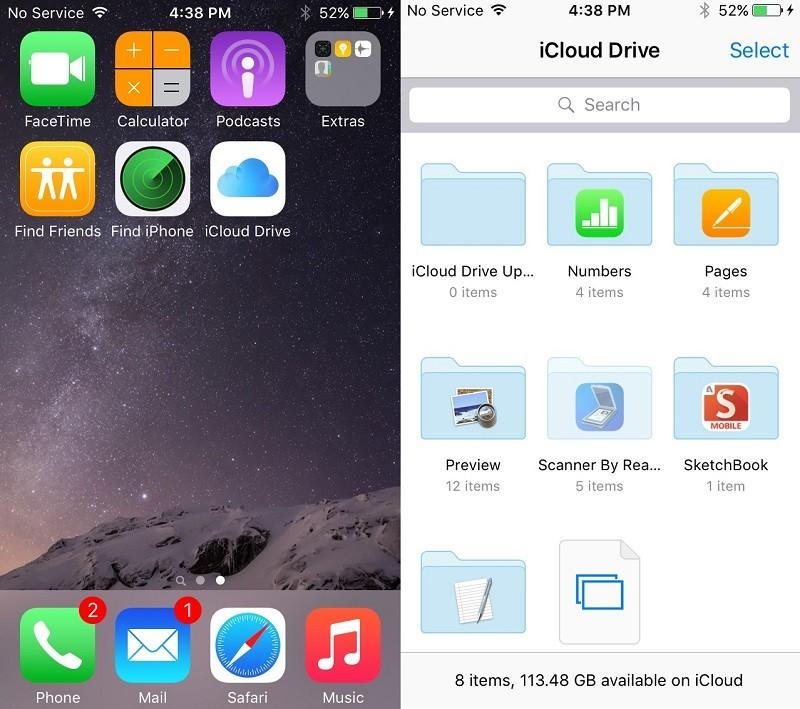 Apple's iOS 9 to feature iCloud Drive app