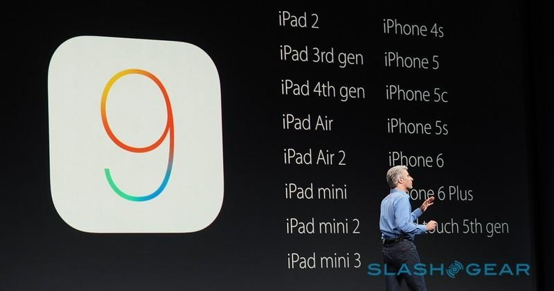 iOS 9 will require less space, support same devices as iOS 8 - SlashGear