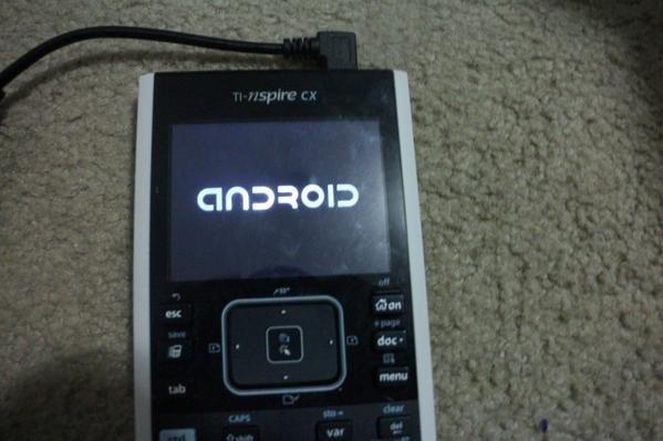 Texas Instruments Graphing Calculator hacked to run Android