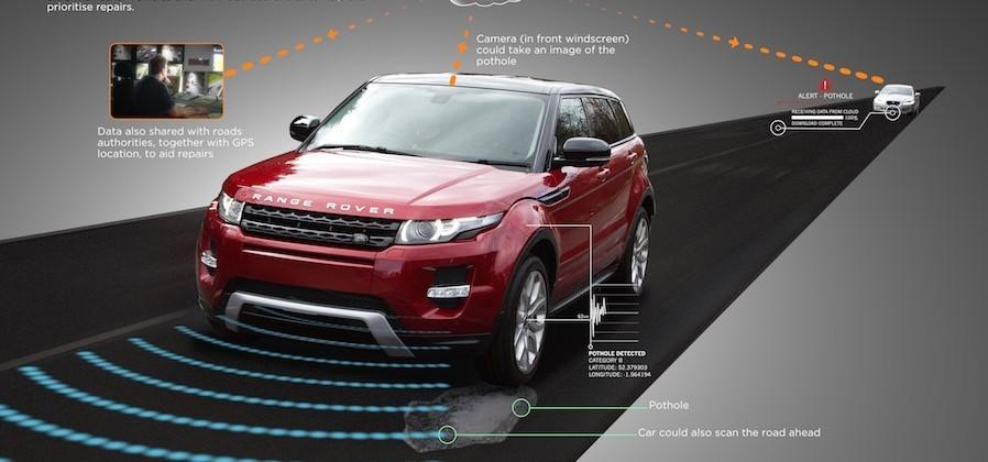 Land Rover develops tech to warn you and the city about potholes