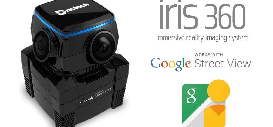 iris360 is a 360-degree camera that connects with Google Street View