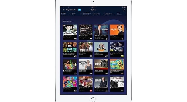 PlayStation Vue rolls out iPad app for TV streaming