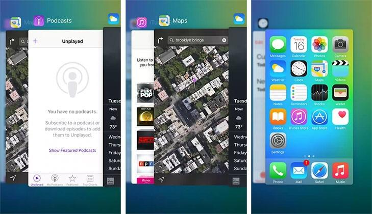 This is what iOS 9's new app switcher looks like