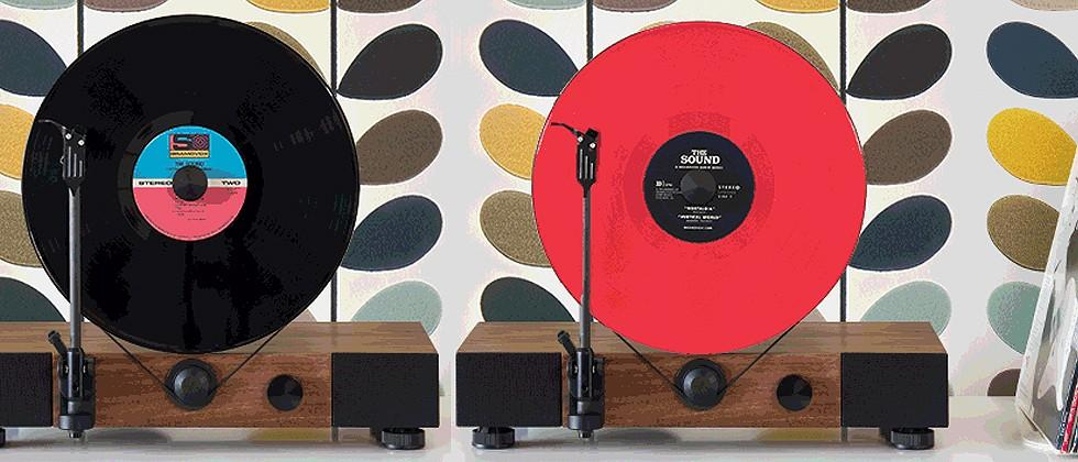 Floating Record vertical turntable project funded in 3 hours