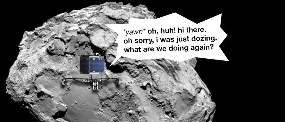 Rosetta mission extended as Philae wakes from long sleep
