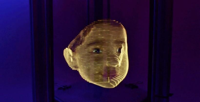 3D light printer creates realistic faces in full color