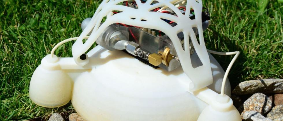 3D printed robot built like a squid, hops like a rocket