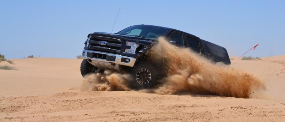 Ford takes 2017 Raptor for a frantic play in the sand