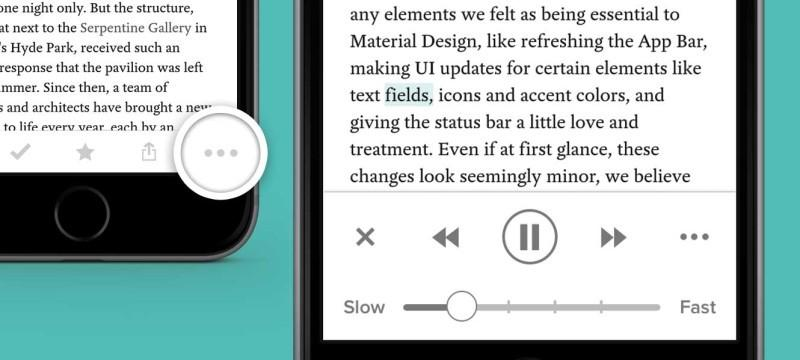 Pocket for iOS updated with text-to-speech feature
