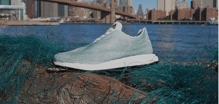 Adidas running shoe prototype is made from ocean trash