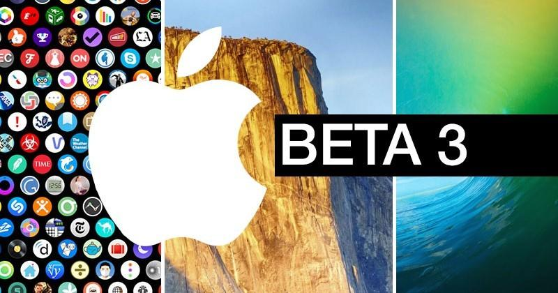 iOS 9, Watch OS 2, OS X 10.11 El Capitan updated to Beta 3 for developers