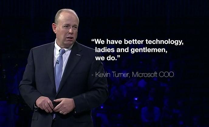 "Microsoft COO on Google: ""We have better technology"""