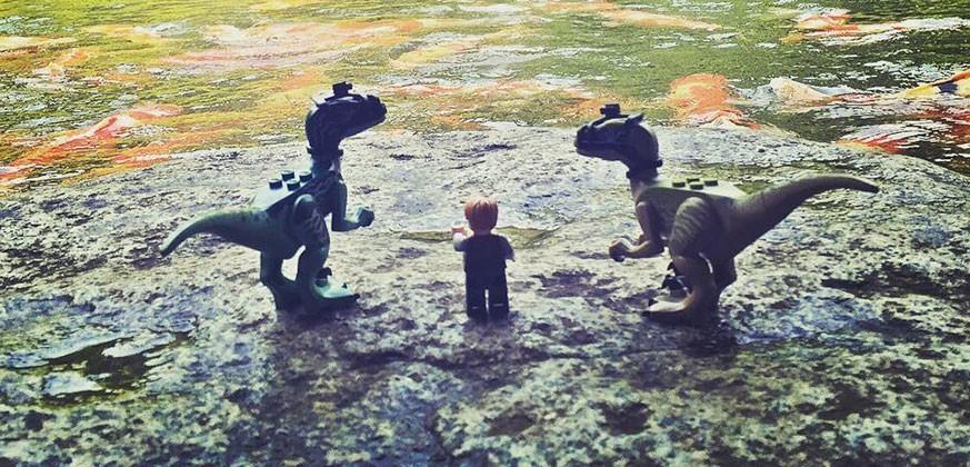 Chris Pratt brings Jurassic World LEGO on world tour