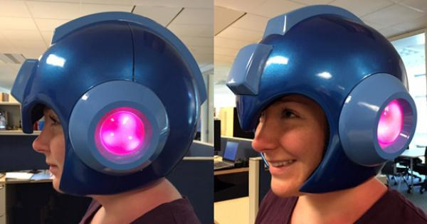 Capcom finally makes a wearable Mega Man helmet