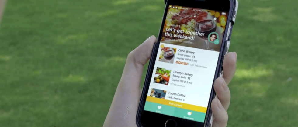 Microsoft Tossup makes app out of lunch choice overload